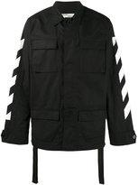 Off-White brushed field jacket - men - Cotton/Polyamide/Polyester - S