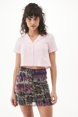 Urban Outfitters 90s Spliced Mesh Mini Skirt - Purple XS at