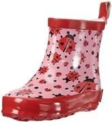 Playshoes PlayshoesGirlsRubberBootsShortAlloverLadybug,SizeEU19