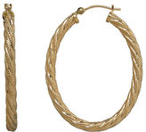 Lord & Taylor 14K Yellow Gold Twisted Hoops