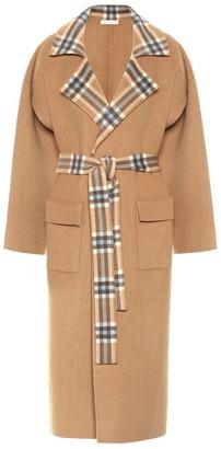 REJINA PYO Meryl checked wool-blend coat