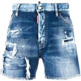 DSQUARED2 distressed wide leg shorts - men - Cotton/Polyester/Spandex/Elastane - 48