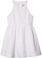 Lilly Pulitzer Little Kinley Dress (Toddler/Little Kids/Big Kids) (Resort White Floral Cross Eyelet) Girl's Dress