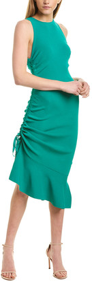 Milly Shirred Sheath Dress