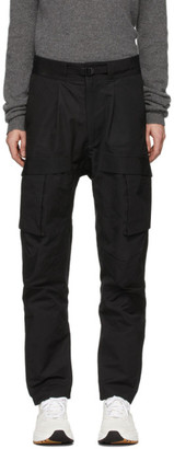 Bottega Veneta Black Panelled Cargo Pants