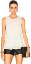 Helmut Lang Tie Tank Top in Neutrals,White.