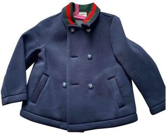 Gucci Blue Viscose Jackets & Coats