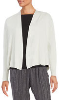 Eileen Fisher Petite Ribbed Knit Cardigan