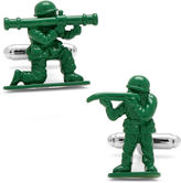 Asstd National Brand Green Army Men Cuff Links