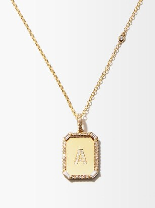 Shay Initial Diamond & 18kt Gold Necklace (a-m) - Yellow Gold