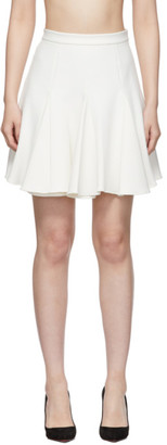 Off-White Off White White Cheerleader Miniskirt