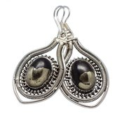"Ana Silver Co. Ana Silver Co Pyrite In Magnetite (healer's Gold) 925 Sterling Silver Earrings 2"" EARR322799"