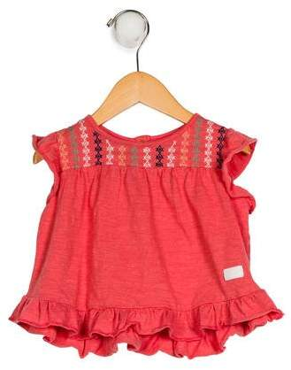 7 For All Mankind Girls' Ruffle Top
