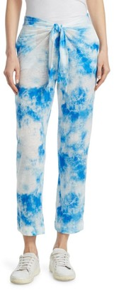 Majestic Filatures Tie-Dye Belted Linen Pants