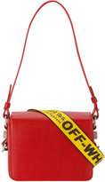 Off-White Red warning tape shoulder bag - women - Leather - One Size