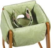 Leachco Diner Liner Plush Booster Chair Liner with Safety Belt, Sage