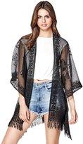 GUESS Lace Fringe Kimono