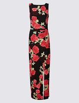M&S Collection Floral Print Drape Waist Maxi Dress