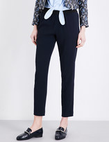Claudie Pierlot Porto mid-rise straight crepe trousers