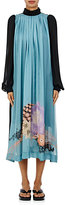 Dries Van Noten Women's Dasente Silk Tent Dress-Blue
