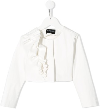 MonnaLisa Ruffle Detail Structured Shoulder Jacket