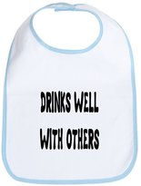 CafePress - DRINKS WELL WITH OTHERS - Cute Cloth Baby Bib, Toddler Bib