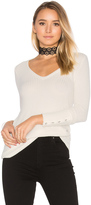 Chaser Deep V Button Cuff Thermal Tee