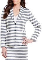 Alex Marie Voltaire Shawl Collar Striped Jacket