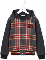 Dolce & Gabbana check hooded jacket