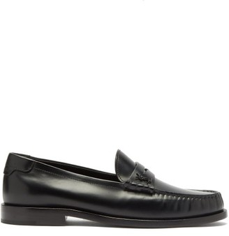 Saint Laurent Le Loafer Leather Loafers - Black