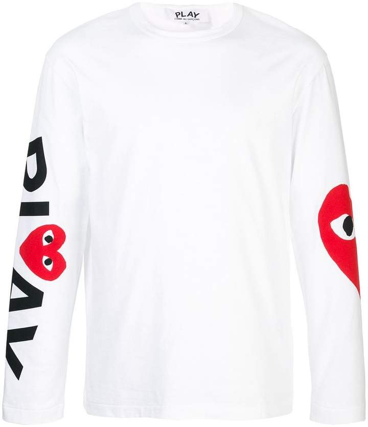 Comme des Garcons almond-eye long-sleeved T-shirt