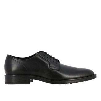 Tod's Derby In Leather With Rubber Sole