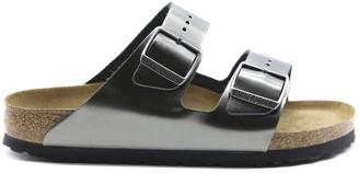 Birkenstock Arizona Sandals In Anthracite Laminated Leather