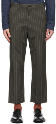 Junya Watanabe Brown Striped Trousers