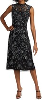 Thumbnail for your product : Reem Acra Sleeveless Beaded & Embroidered Dress