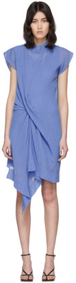 Nina Ricci Blue Draped Dress