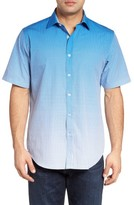 Bugatchi Men's Classic Fit Ombre Sport Shirt