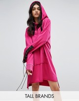 Daisy Street Tall Longline Hooded Dress