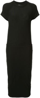 James Perse stretch jersey blouson dress