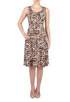 Allison Daley Plus Printed Scoop-Neck Dress