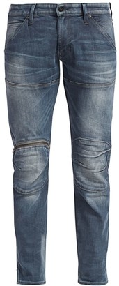 G Star Distressed Zip Knee Jeans