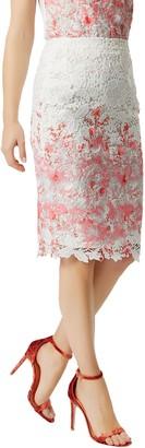 Damsel in a Dress Amily Skirt, Raspberry/Multi