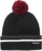 Sean John Men's Stripe Pom Pom Beanie, Created for Macy's