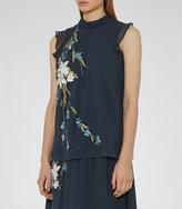 Reiss Amoure Embroidered Top
