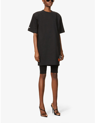 Heron Preston Branded oversized cotton-blend T-shirt