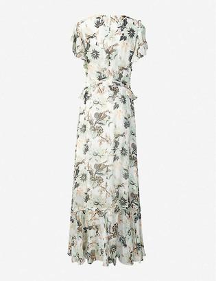 Diane von Furstenberg Carol floral-print crepe midi wrap dress