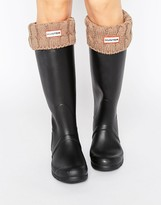 Hunter Short 6 Stitch Cable Boot Sock
