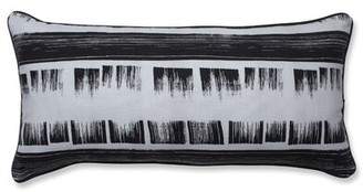 Ebern Designs Shrader Brushed Ink Oversize Cotton Lumbar Pillow