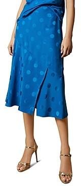 Ted Baker Dellla Dot Print Midi Skirt