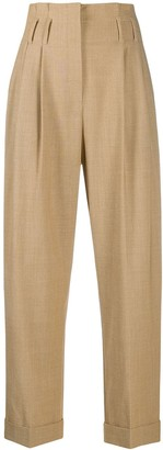Brunello Cucinelli High-Waisted Straight-Leg Trousers